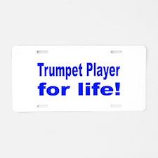 Trumpet Aluminum License Plate