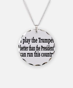 Trumpet Necklace Circle Charm