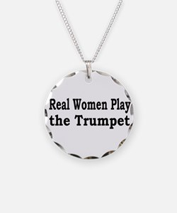 Real Women Play Trumpet Necklace