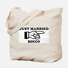 Just Married Rocco Tote Bag