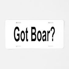 Got Boar? Aluminum License Plate