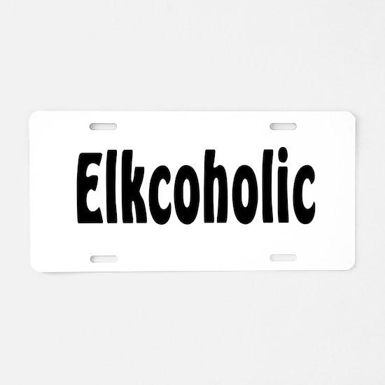 Elkcoholic Aluminum License Plate