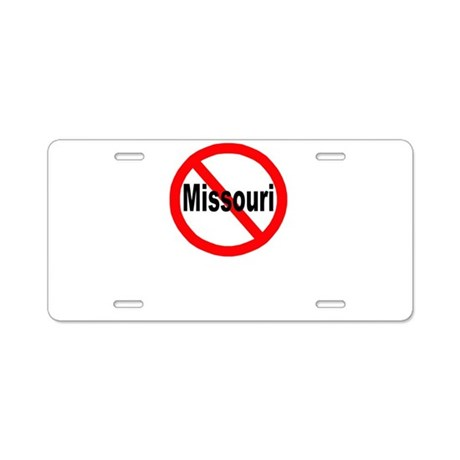 Missouri Aluminum License Plate