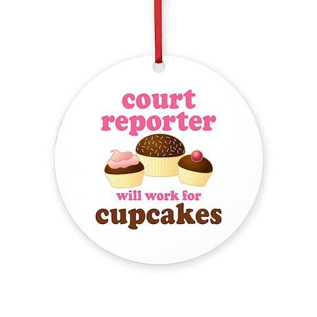 Funny Court Reporter Ornament (Round)