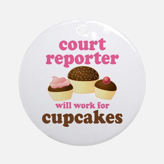Funny Court Reporter Ornament (Round)
