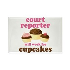 Funny Court Reporter Rectangle Magnet