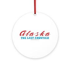 Alaska - Last frontier Ornament (Round)