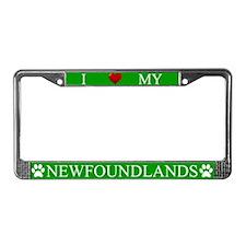 Green I Love My Newfoundlands Frame