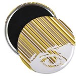 "Retro Stripe Girls Face 2.25"" Magnet (10 Pk)"