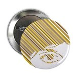 "Retro Stripe Girls Face 2.25"" Button (100 Pk)"