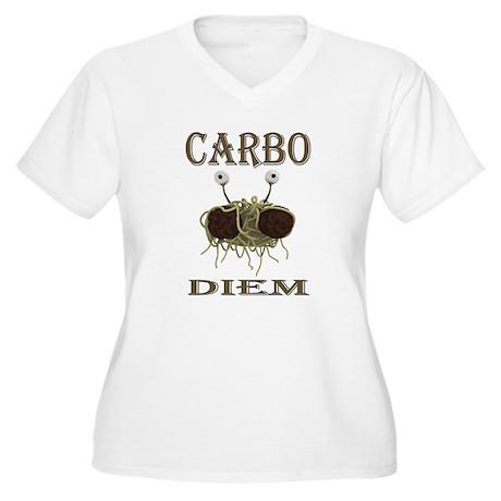 Carbo Diem Women's Plus Size V-Neck T-Shirt