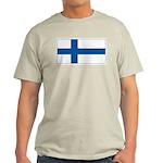 Finland Finish Blank Flag Ash Grey T-Shirt