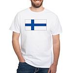 Finland Finish Blank Flag White T-Shirt