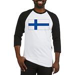 Finland Finish Blank Flag Baseball Jersey