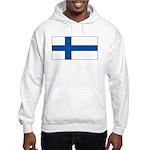 Finland Finish Blank Flag Hooded Sweatshirt