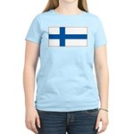 Finland Finish Blank Flag Women's Pink T-Shirt