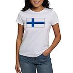 Finland Finish Blank Flag Women's T-Shirt
