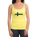 Finland Finish Blank Flag Jr. Spaghetti Tank