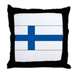Finland Finish Blank Flag Throw Pillow