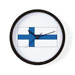 Finland Finish Blank Flag Wall Clock