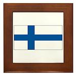 Finland Finish Blank Flag Framed Tile