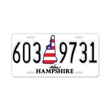 NH USA Aluminum License Plate