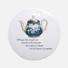 Teapot Ornament (Round)