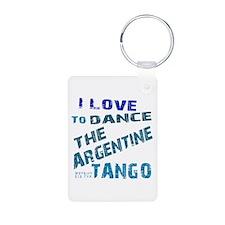 LOVE TO DANCE ARGENTINE TANGO Aluminum Photo Keych