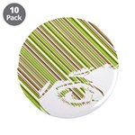 "Retro Stripe Girls Face 3.5"" Button (10 Pk)"