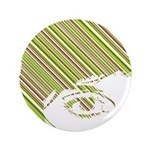"Retro Stripe Girls Face 3.5"" Button"