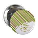 "Retro Stripe Girls Face 2.25"" Button (10 Pk)"