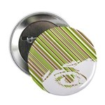 "Retro Stripe Girls Face 2.25"" Button"