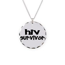 AIDS Necklace Circle Charm