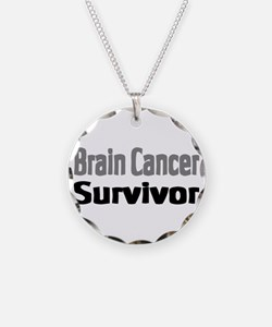 Brain Cancer Necklace Circle Charm
