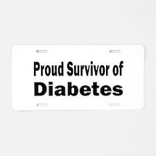 Diabetes Aluminum License Plate