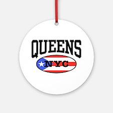 Queens Puerto Rican Ornament (Round)