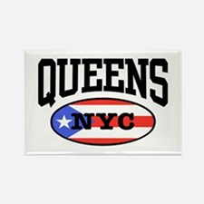 Queens Puerto Rican Rectangle Magnet