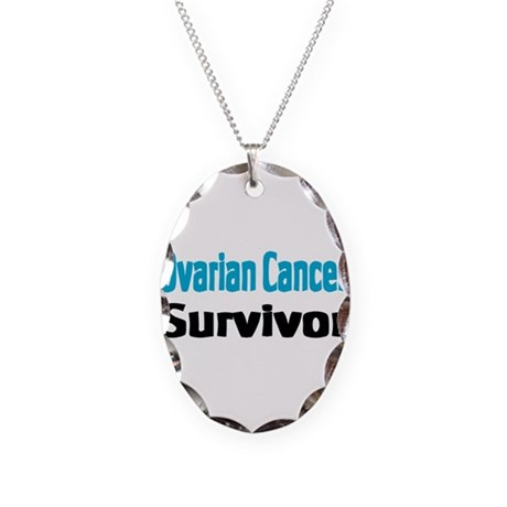 Ovarian Cancer Necklace Oval Charm