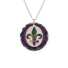 Fleur de lis Mardi Gras Beads Necklace