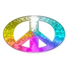 Peace Rainbow Splash Decal