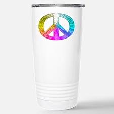 Peace Rainbow Splash Travel Mug