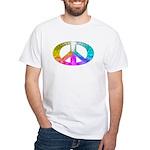 Peace Rainbow Splash White T-Shirt