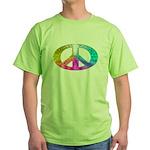 Peace Rainbow Splash Green T-Shirt