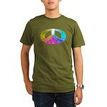 Peace Rainbow Splash Organic Men's T-Shirt (dark)