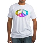 Peace Rainbow Splash Fitted T-Shirt