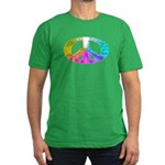 Peace Rainbow Splash Men's Fitted T-Shirt (dark)