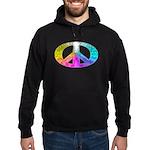 Peace Rainbow Splash Hoodie (dark)