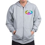Peace Rainbow Splash Zip Hoodie