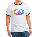 Peace Rainbow Splash Ringer T