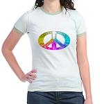 Peace Rainbow Splash Jr. Ringer T-Shirt